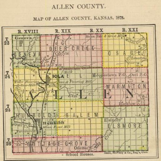 Allen County Kansas Maps