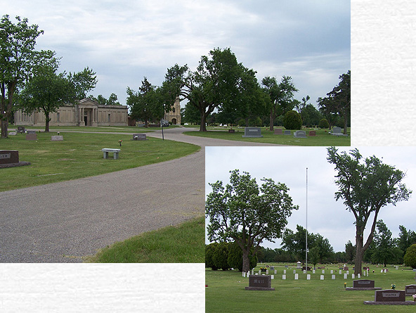White Chapel Memorial Gardens Sedgwick County Kansas Nw 1 4 Section 12 Twp 27s R1e Wichita Township